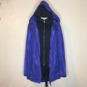DKNY XL Rain Shell Jacket W/ Zip Out Liner Purple